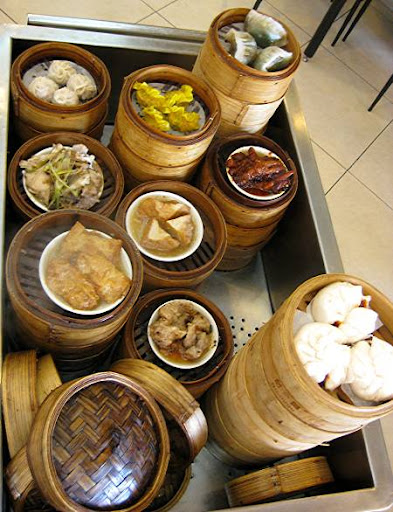 dim sum cart in a Chinese restaurant