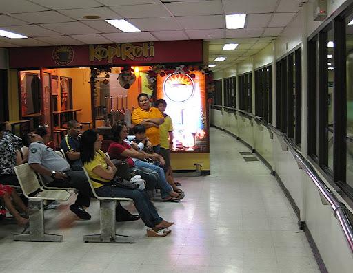 inside the waiting area of the Ninoy Aquino International Airport