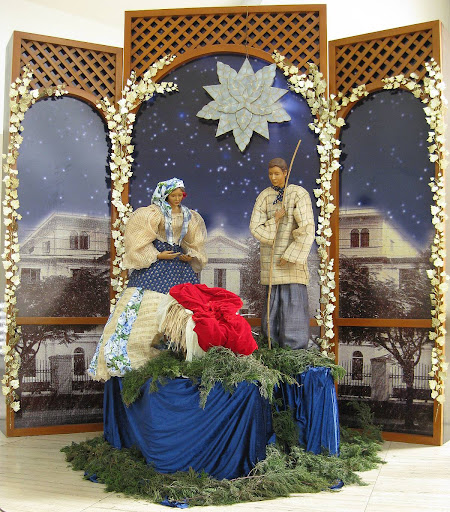 Nativity scene at the Ateneo Church of the Gesù