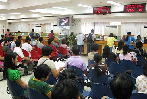 taxpayers' lounge at the Quezon City Hall