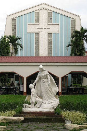 sculpture at the Ateneo de Manila High School's Promenade of Our Lady