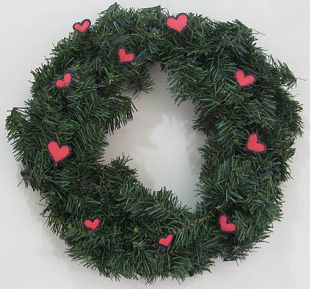 wreath with Valentine hearts