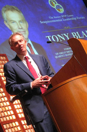 Tony Blair at the Ateneo MVP Center Leadership Forum