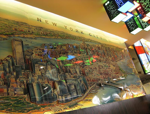 paper tole map of New York City at Napoli Pizzeria Ristorante