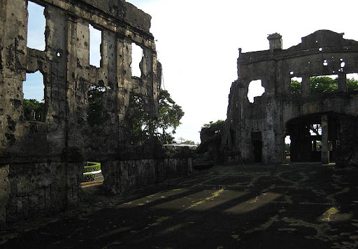 interior of Cine Corregidor ruins in Corregidor Island