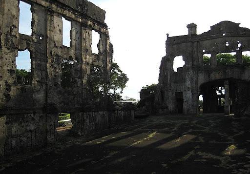 interior of Cine Corregidor ruins in Corregidor Island