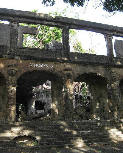 Fort Mills Post Headquarters and Chapel ruins in Corregidor Island