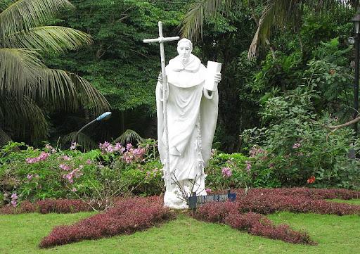 the garden of St. Dominic in Caleruega in Batangas
