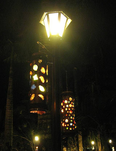 bamboo lamps with synthetic gems in Caleruega in Batangas