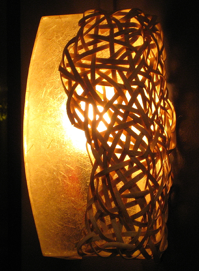 resin and wicker lamp at Kabisera ni Dencio's