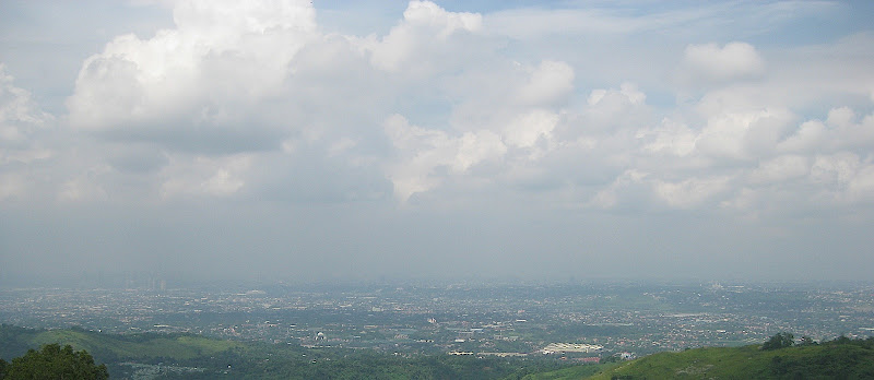 view of Metro Manila from Timberland Heights