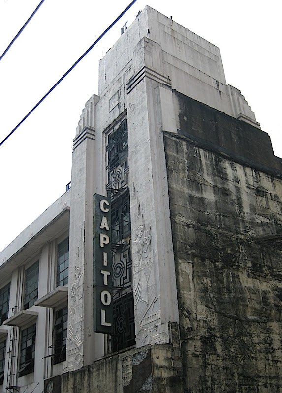 the Art Deco Capitol Theater in Escolta, Manila