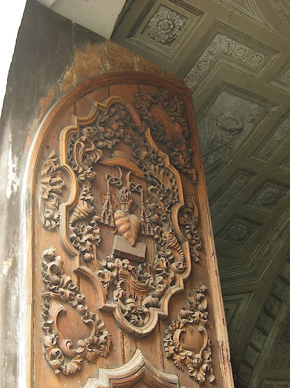 door and vestibule of the San Agustin Church