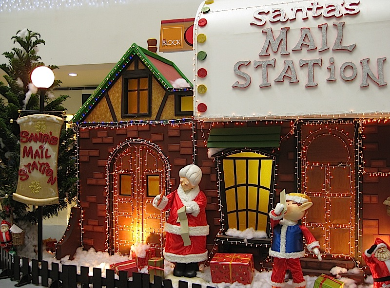 Santa's Mail Station at the Christmas Village in The Block at SM City North EDSA