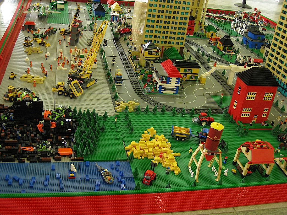 small city made of Lego bricks