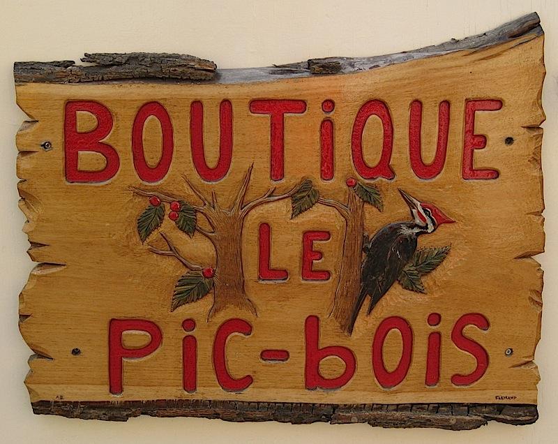 shop sign at Quartier Petit Champlain, Quebec City