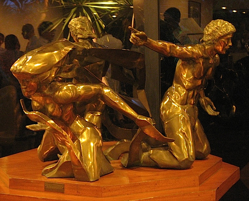 bronze sculpture at Banco de Oro