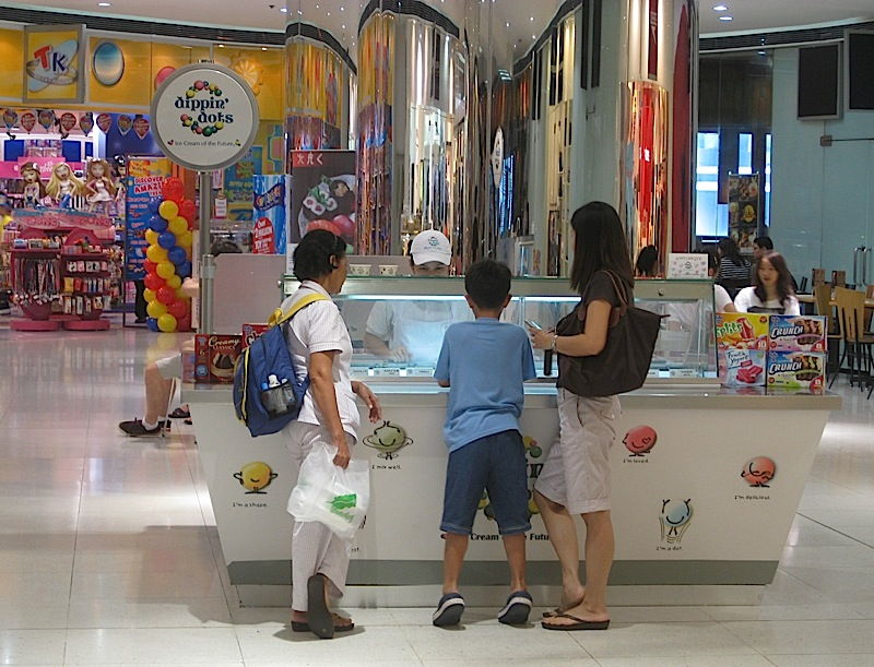 Dippin' Dots ice cream stall in The Podium mall
