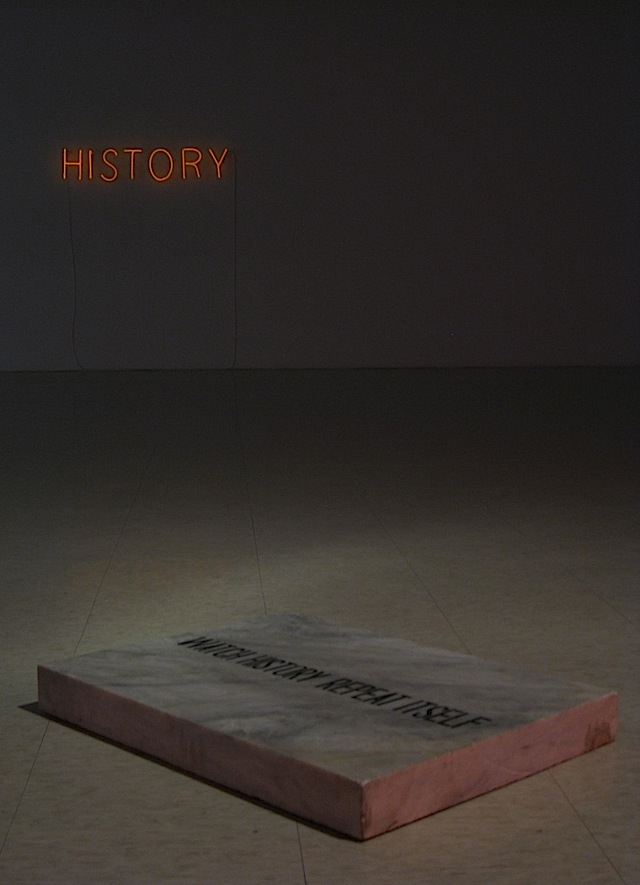 Watch History Repeat Itself art installation by Kiri Dalena at the Ateneo Art Gallery