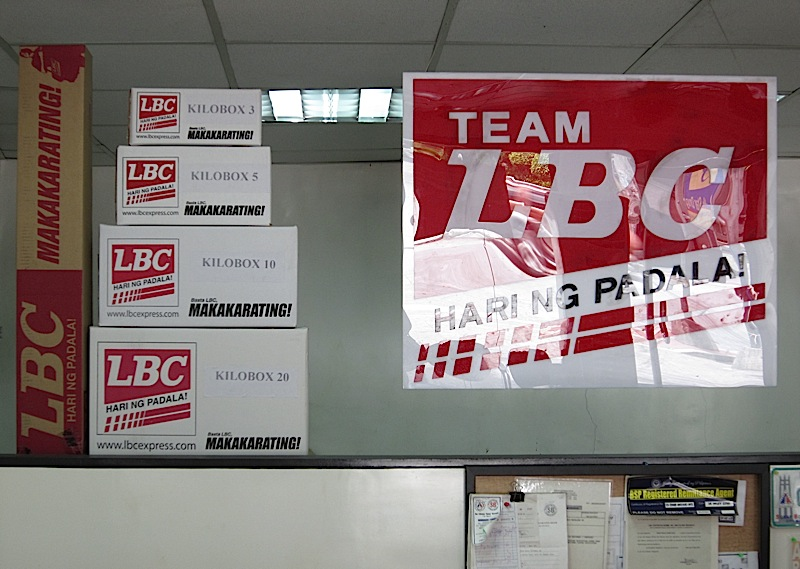LBC boxes and sign