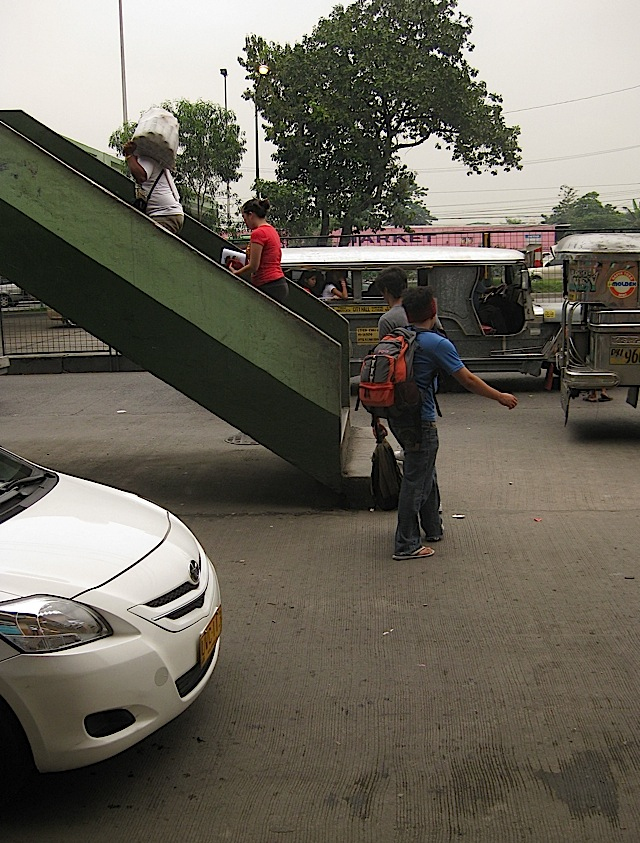 footbridge that ends in the middle of a street