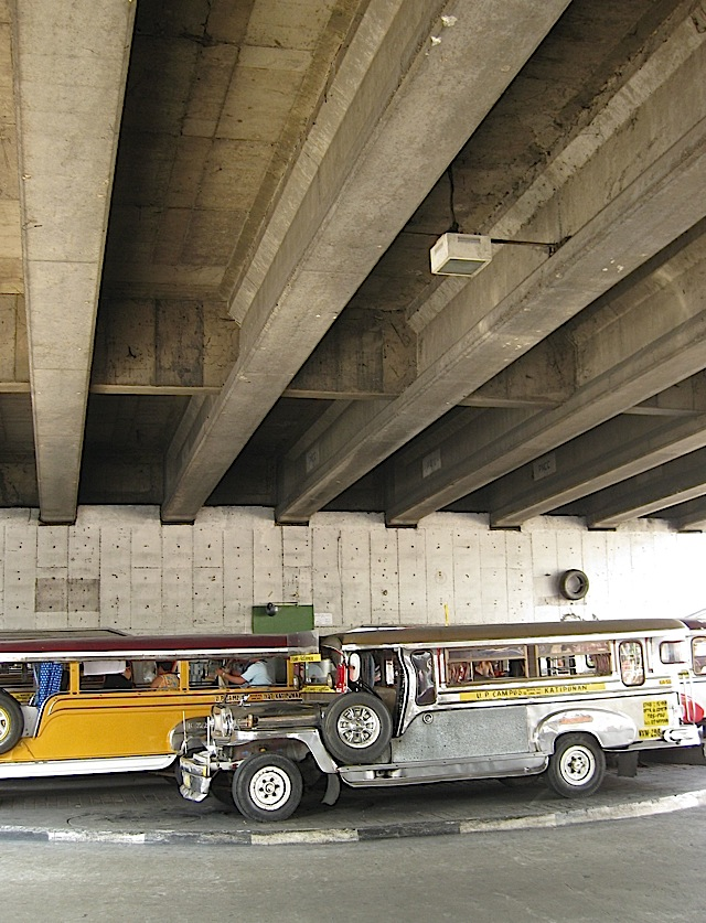 underneath the Katipunan Avenue flyover
