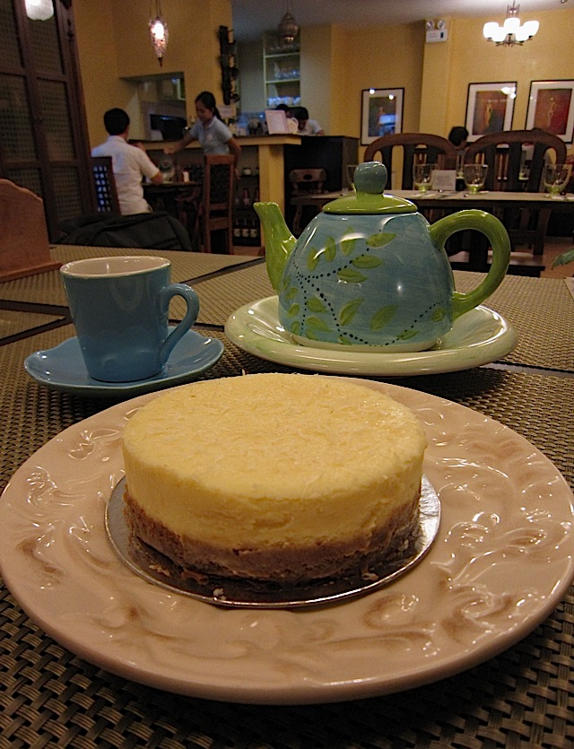 Queso de Bola Cheesecake at Kiss the Cook Café
