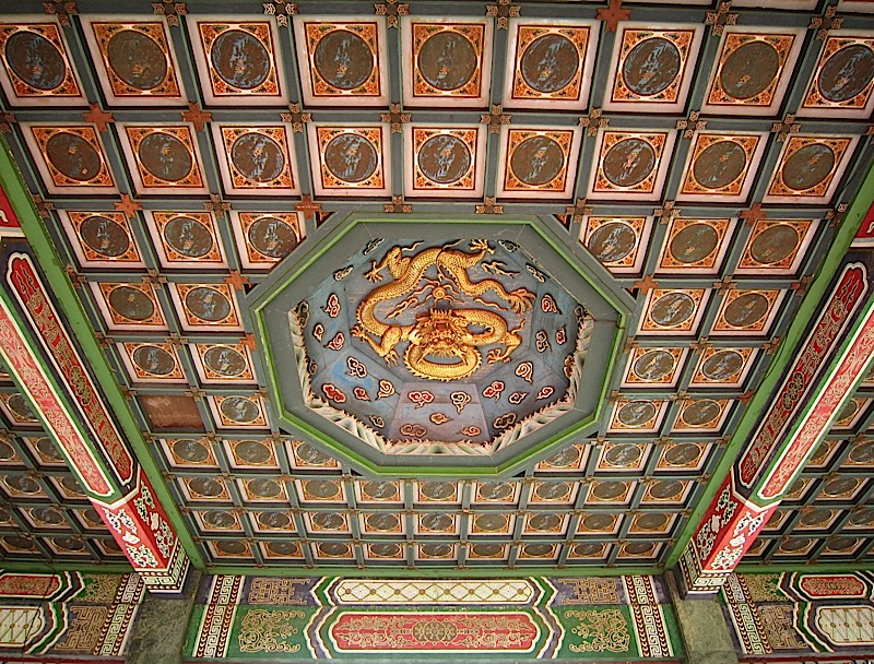 ceiling of the Chinese pavilion at the Rizal Park