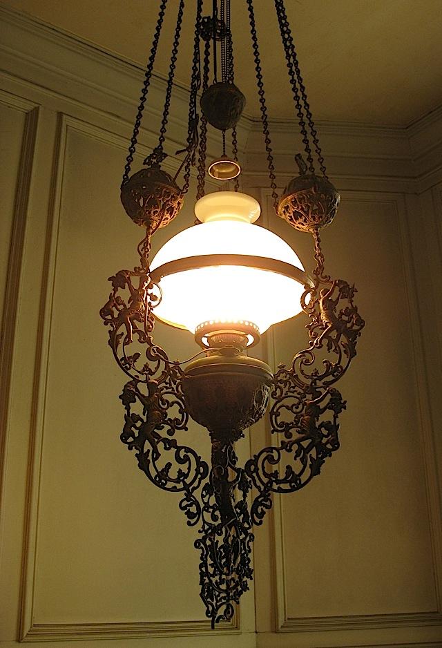metal chandelier at La Cocina de Tita Moning, the ancestral home of the Legarda clan
