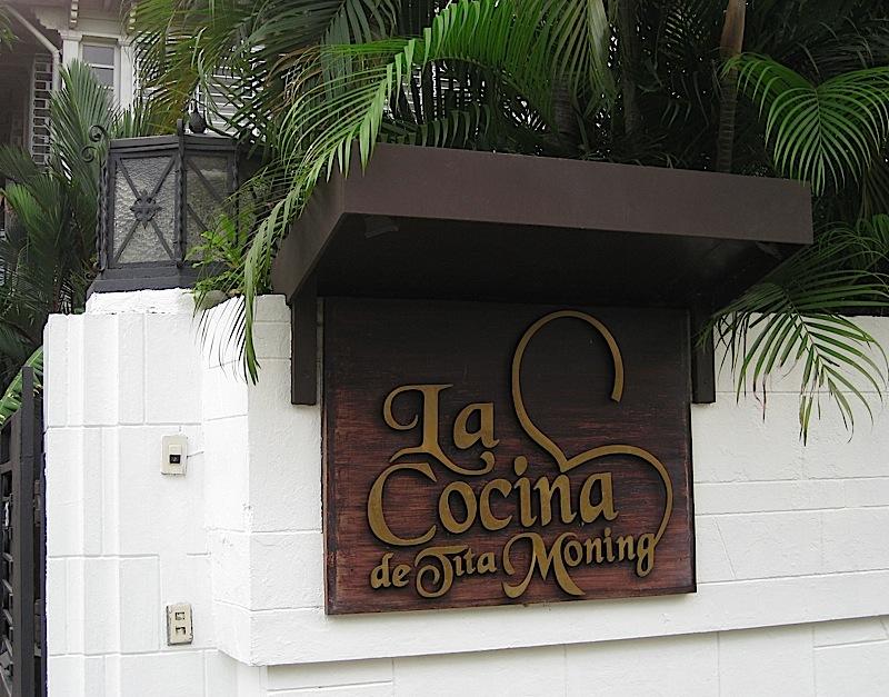 sign of La Cocina de Tita Moning