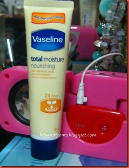 vaseline total moisture nourishing lotion, by bitsandtreats