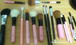 assorted makeup brushes before washing 1, by bitsandtreats