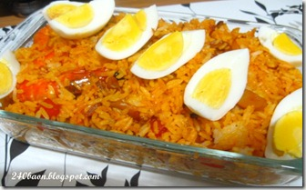 shrimps and mushroom rice, by 240baon