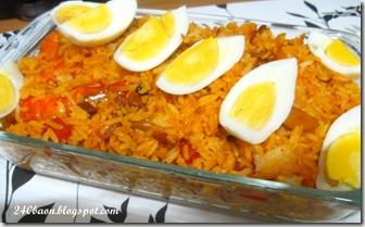 shrimps and mushroom rice, by 240baon