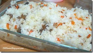 carrots and balsamic beef fried rice, by 240baon