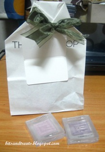 the face shop gift bag and eye shadows, by bitsandtreats