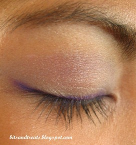 purple and blue eotd with nichido purple eye liner, by bitsandtreats