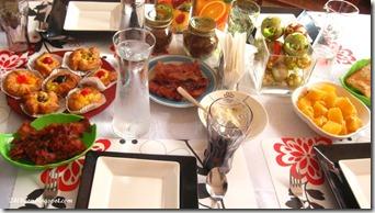 ham and bacon breakfast spread, by 240baon
