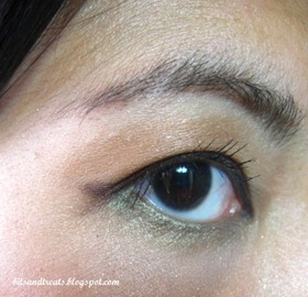 EOTD using maybelline gel eyeliner in brown, by bitsandtreats