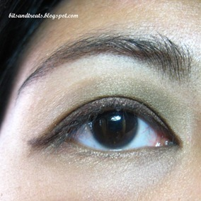 nichido stardust enchanted green palette EOTD, by bitsandtreats