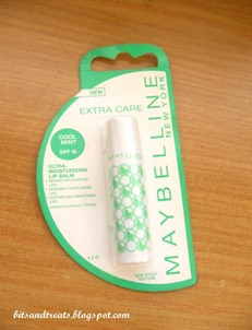 maybelline lip smooth cool mint lip balm, by bitsandtreats