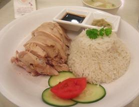 hainanese chicken at toastbox