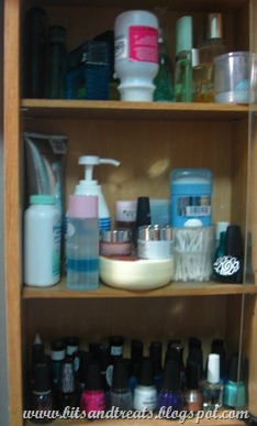 perfume, toiletries and nail polish cabinet