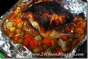 my first attempt at roast chicken, by 240baon