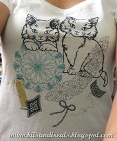 kitty uniqlo shirt, by bitsandtreats