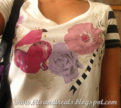 uniqlo shirt with bird and flowers print, by bitsandtreats
