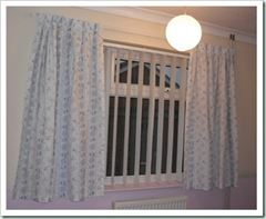 dining room blue curtains