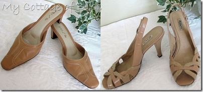 Camel dress heels collage