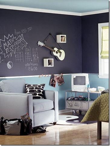 black chalkboard paint trend