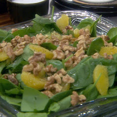 Spinach and Walnut Salad with Thyme Vinaigrette